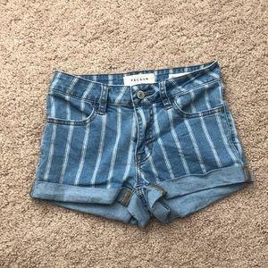 Pacsun Striped Jean Shorts